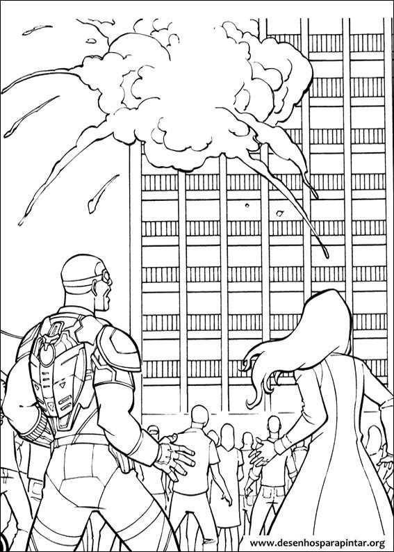 Coloring pages for kids free images: captain america civil war and ...