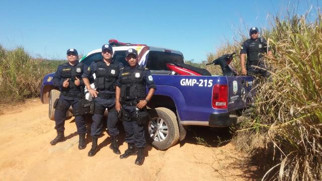 Guarda Municipal de Parauapebas (PA) recupera moto roubada nas proximidades do lago do Nova Carajás