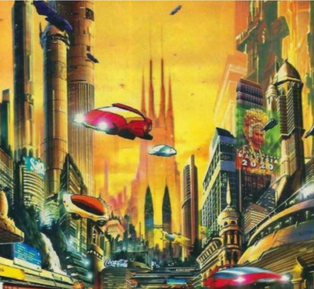 Gambaran wawasan 2020 pada tahun 1991 : kenderaan persendirian seperti kereta dan motosikal akan berterbangan di udara