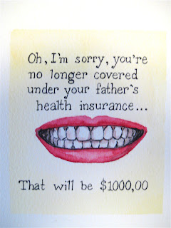 watercolor painting, dentist, insurance, smile
