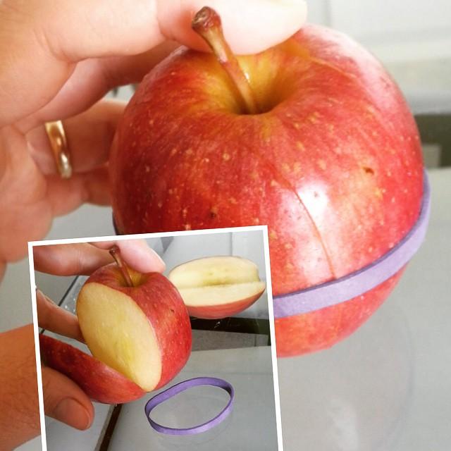 Lanche na escola: para a maçã não escurecer