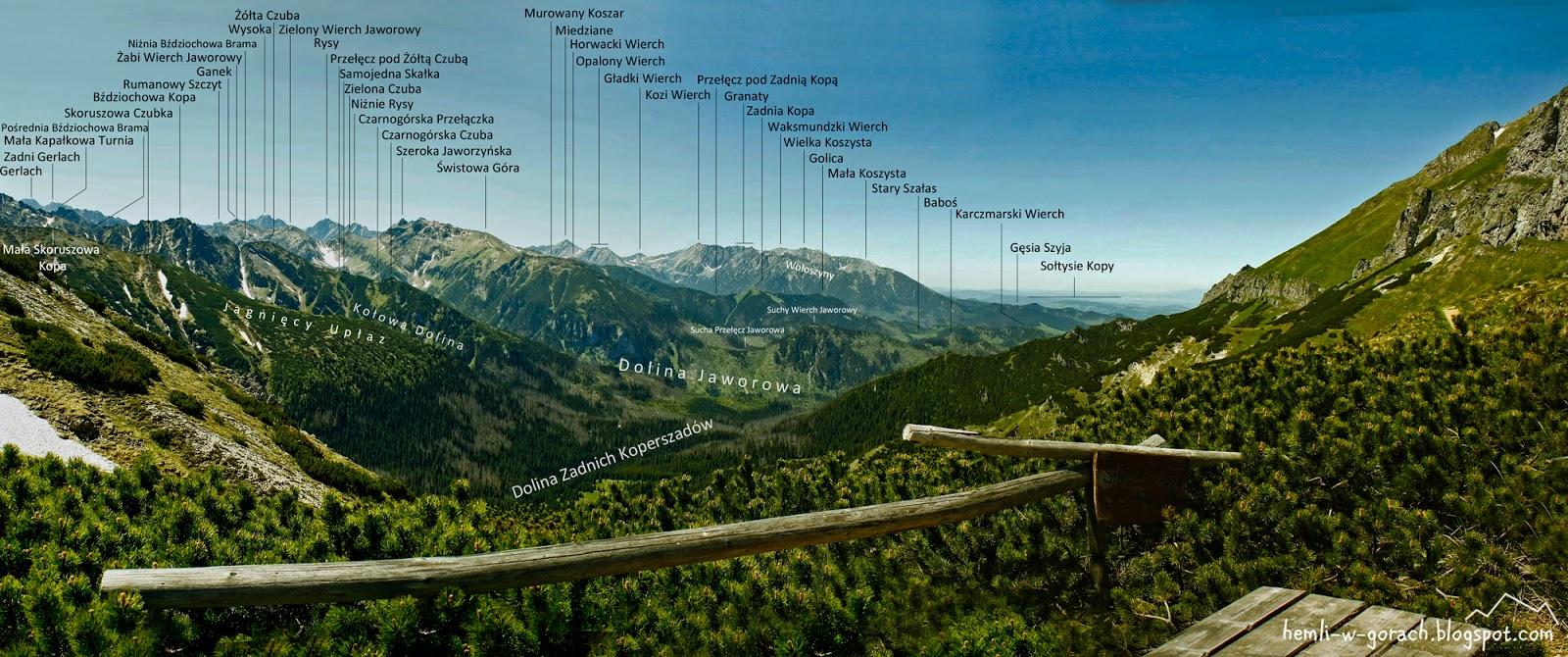 Panorama z Szerokiej Przełęczy Bielskiej