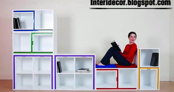 Creative Space Saving Furniture Kids Shelves Table Chairs