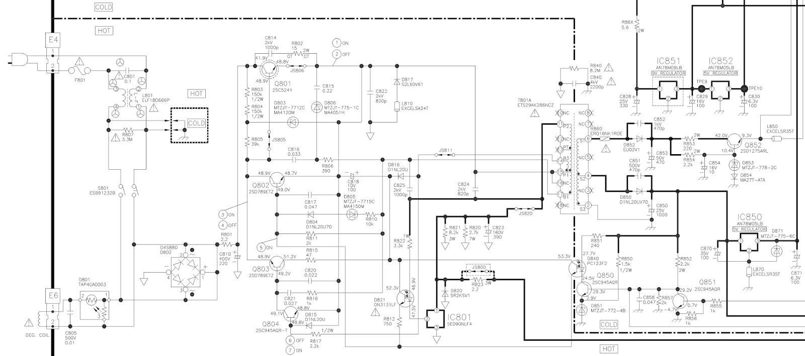 panasonic tc14a8 tc14a9 tc20a8 tc20a9 smps power. Black Bedroom Furniture Sets. Home Design Ideas