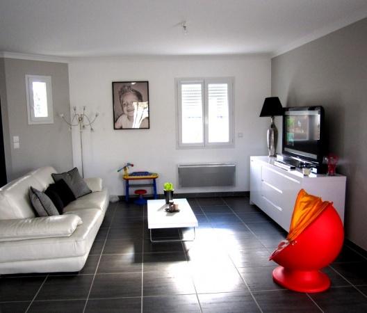 Deco Salon Moderne Noir Et Blanc Gris - Sunfay.top