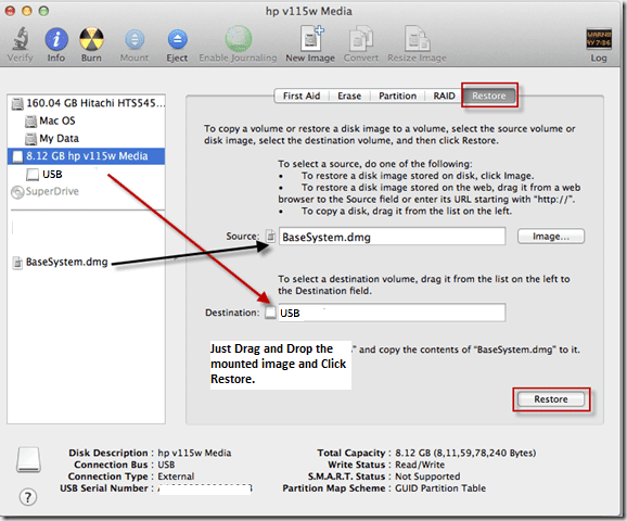 Create Bootable USB installer drive for Mountain Lion from Recovery Partition