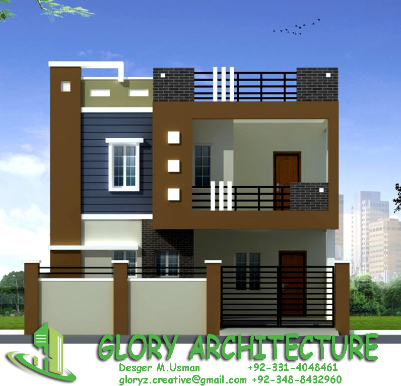 Front Elevation Of Building : House plan elevation d view