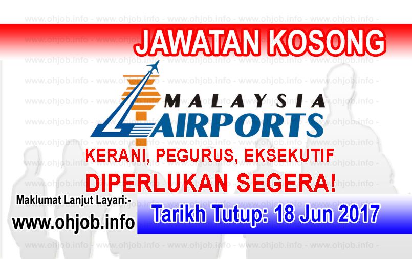Jawatan Kerja Kosong Malaysia Airport Holdings Berhad logo www.ohjob.info jun 2017