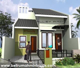 Rumah minimalis sederhana type 21 dengan taman kecil