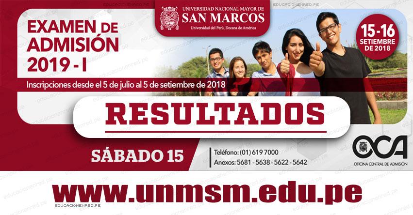 UNMSM: Ingresantes San Marcos 2019-1 (Resultados Sábado 15 Septiembre) Examen de Admisión - Áreas Ciencias de la Salud - Ciencias Básicas - Ciencias Económicas y de la Gestión - Universidad Nacional Mayor de San Marcos - www.unmsm.edu.pe