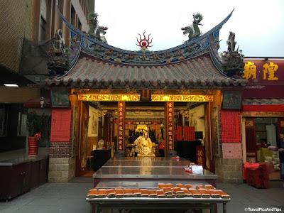 Temple sur la rue Duhua (Datong) à Taipei, Taiwan