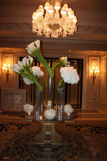décoration florale de l'hôtel