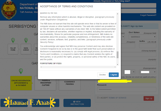 Online NBI Clearance - Step 3