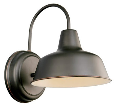 bronze outdoor sconce