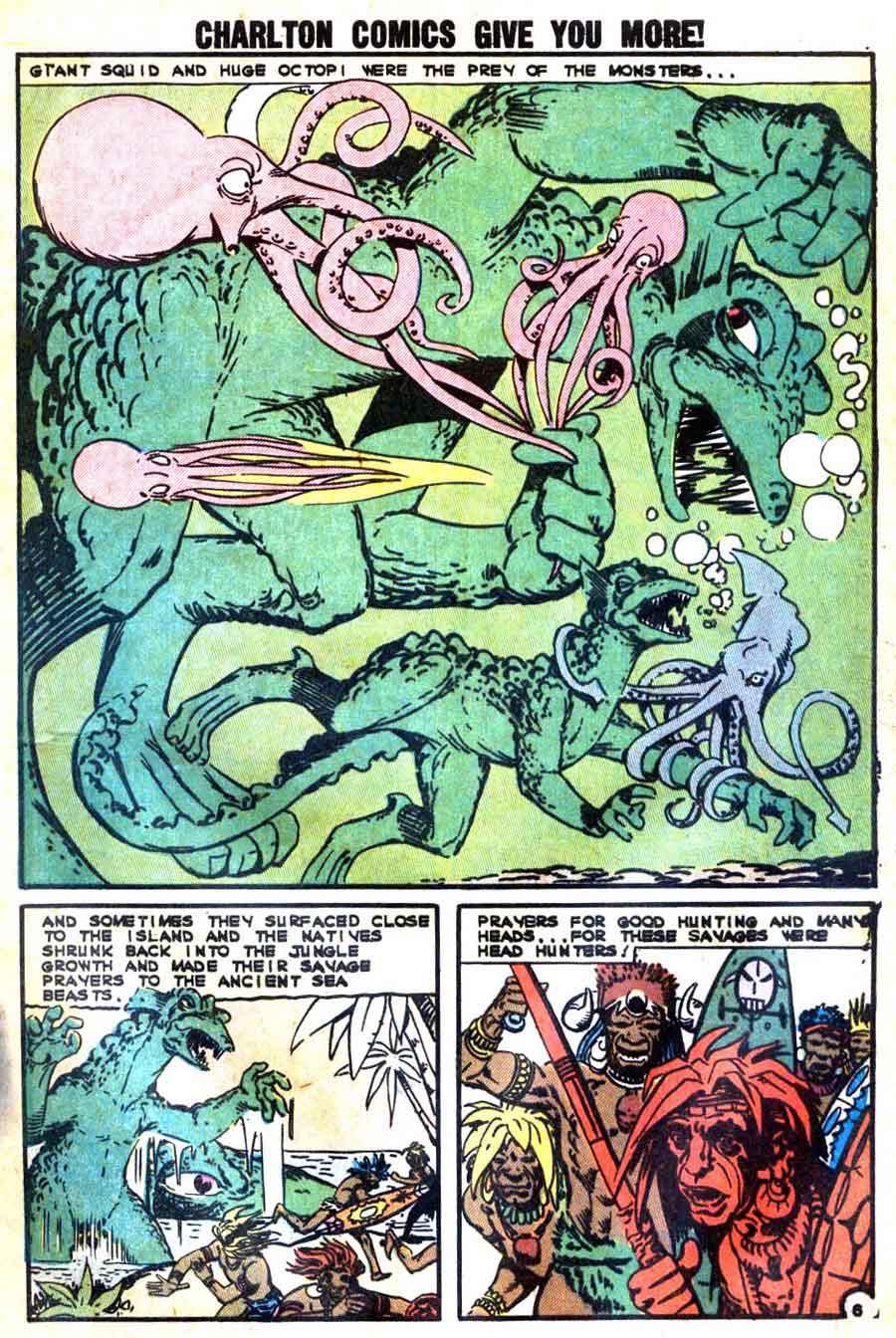 Gorgo v1 #11 charlton monster comic book page art by Steve Ditko