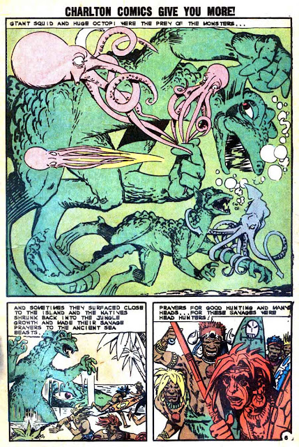 Gorgo v1 #11 charlton monster comic book page art by Steve Ditko