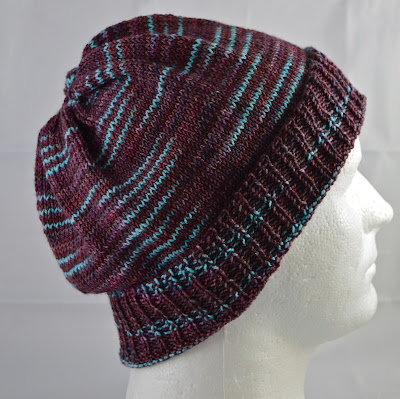a men's slouchy hat for sale at https://www.etsy.com/shop/JeannieGrayKnits