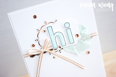 Lined Alphabet by Stampin' Up! - Susan Wong