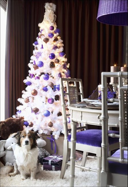 amethyst in home design holiday decorating white and purple