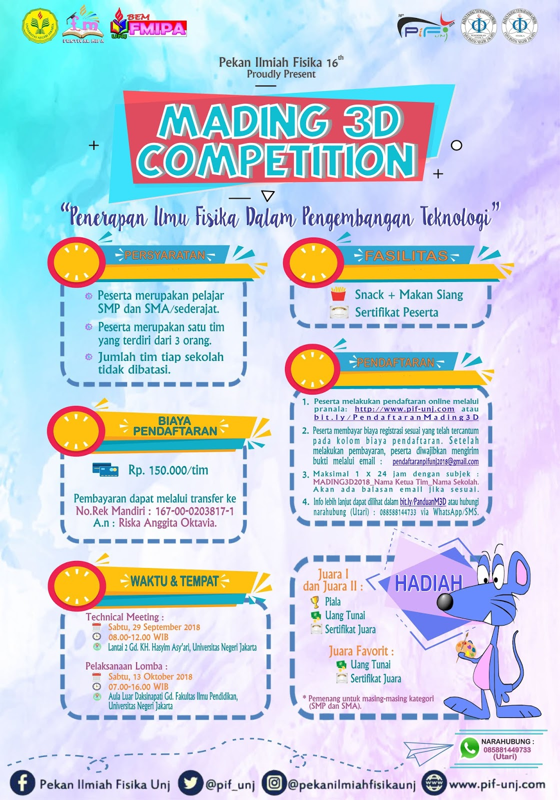 Pekan Ilmiah Fisika Universitas Negeri Jakarta Mading 3d Competition