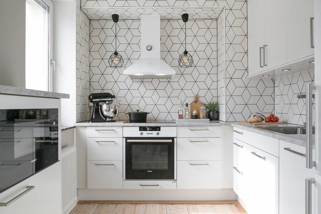 Cozinha com azulejos em forma de diamante decora o e ideias for Casa del azulejo