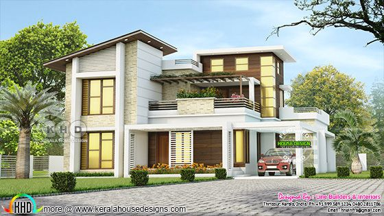 2968 sq-ft 4 bedroom contemporary style house