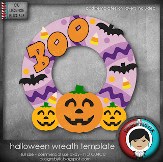 New CU Freebie Halloween Template