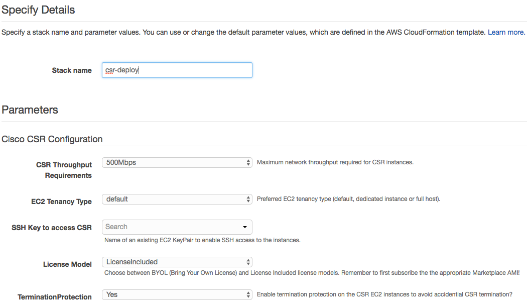 AWS CloudFormation for NFV