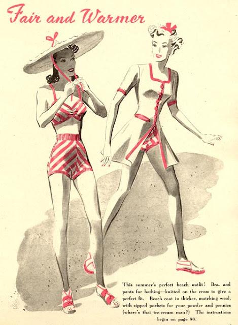 Vintage Swim Suit Pattern 58