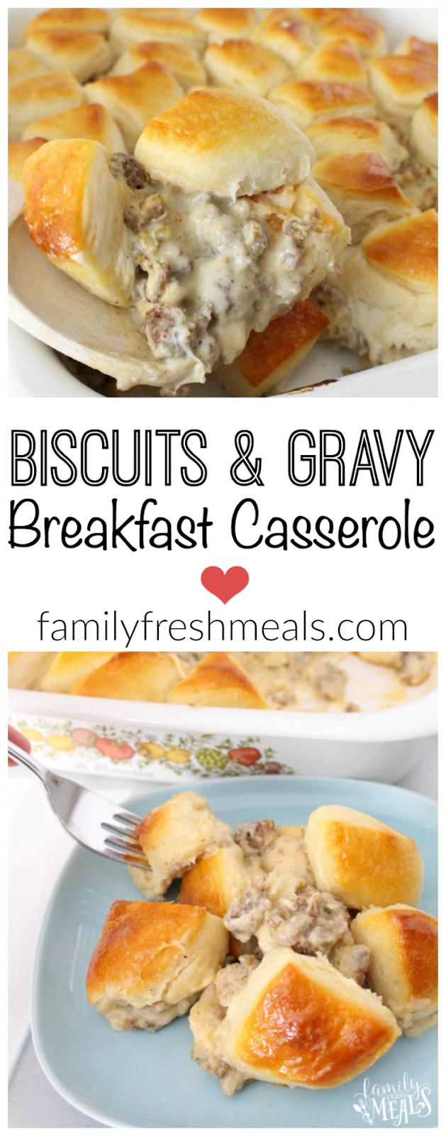 Biscuits and Gravy Breakfast Casserole Recipe