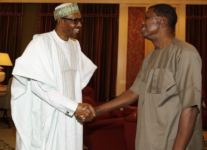 Photo: Pastor Adeboye meets President Buhari in Aso Rock 1