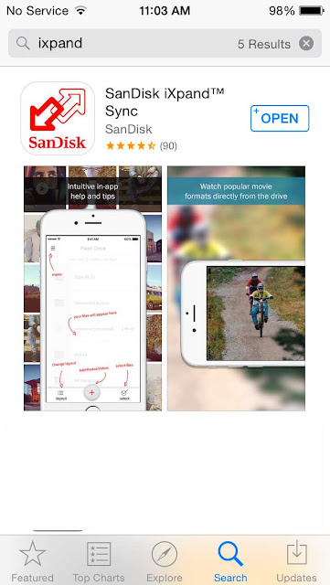 SanDisk iXpand app