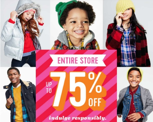 Old Navy Entire Store Up To 75% Off + 20% Off