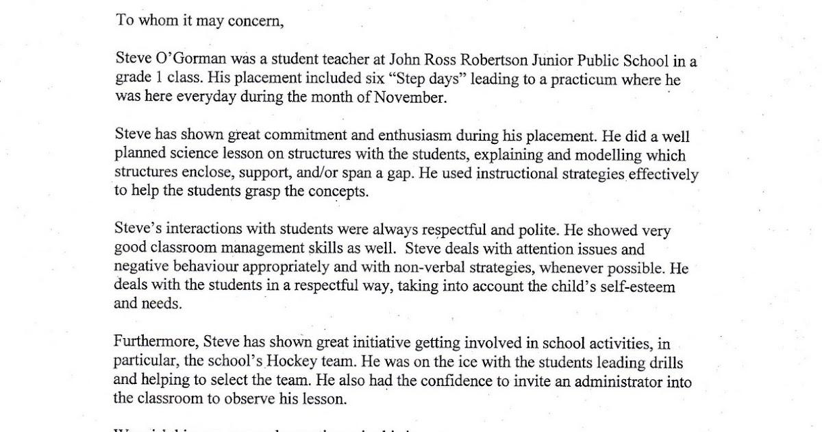 Professional Teaching Portfolio: Reference Letter: Chris