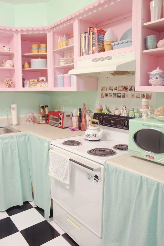 Ideias de decora o cozinhas estilo dos anos 50 - Cocinas retro anos 50 ...