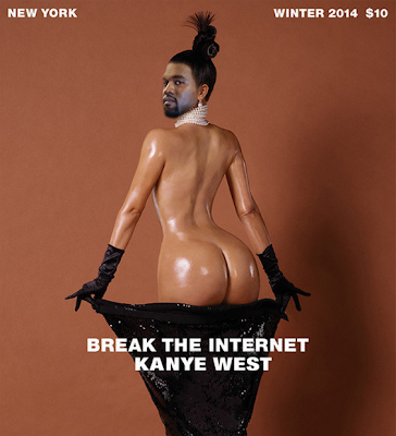 Kim Kardashian, CyberTribu, Internet, Social Media Marketing, Meme, Paper Magazine, Jean-Paul Goude