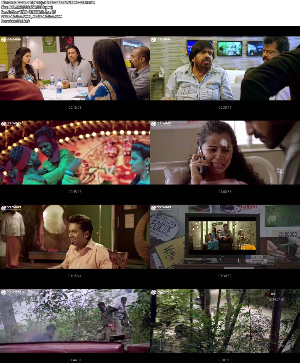 Kavan 2019 720p Hindi Dubbed WEBHD x264 | 480p 300MB | 100MB HEVC Screenshot