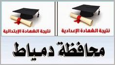 نتيجة الشهادة الأبتدائيه والأعداديه محافظة دمياط 2014