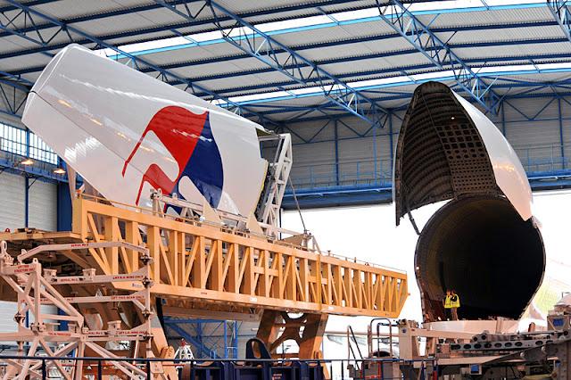 Tail Fin Airbus A380 MAS