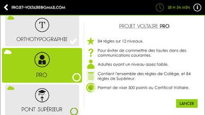 Télécharger l'application Projet Voltaire pour améliorer votre orthographe