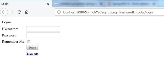 spring mvc login form