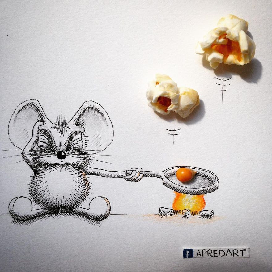 21-Around-the-Camp-Fire-Loïc-Apreda-apredart-Drawings-of-Rikiki-the-Mouse-and-his-Famous-Friends-www-designstack-co