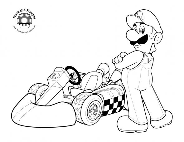 Desenhos Do Luigi Para Colorir Imprimir