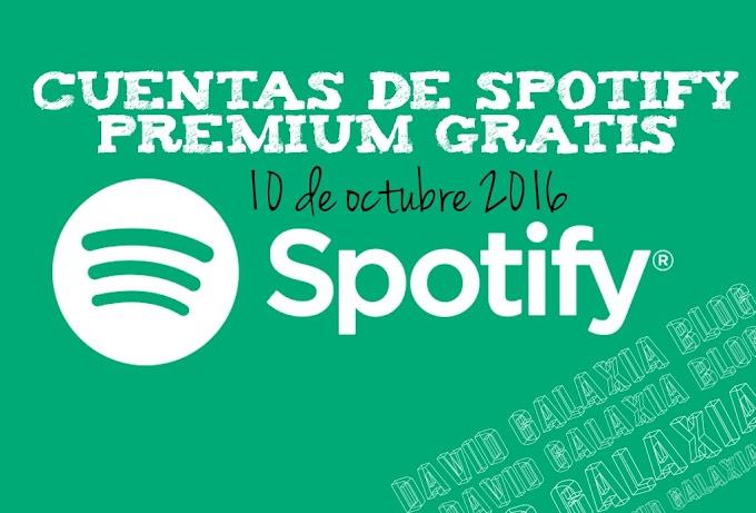 Cuentas Spotify Premium Octubre 2016