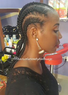 cornrows on relaxed hair
