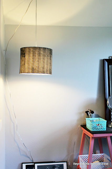 light, World Market, DIY, lighting, teen bedroom, hanging light, http://bec4-beyondthepicketfence.blogspot.com/2015/10/teen-attic-bedroom-easy-vanity.html