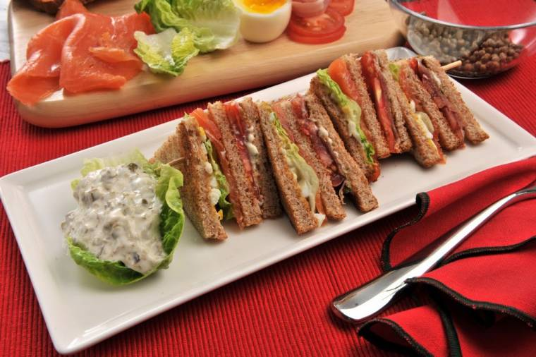 Smoked Salmon Club Sandwich: Afternoon Tea