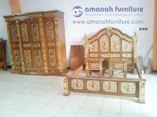 Model Set Kamar Tidur Jati Jepara
