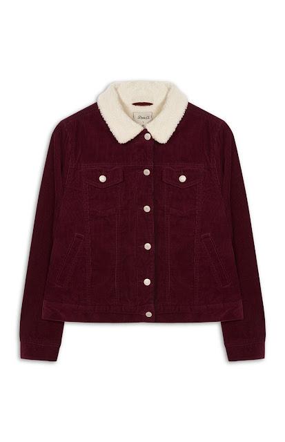 burgundy coat primark