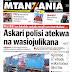 HAYA HAPA MAGAZETI YA LEO JUMATATU MEI 14,2018 - NDANI NA NJE YA TANZANIA